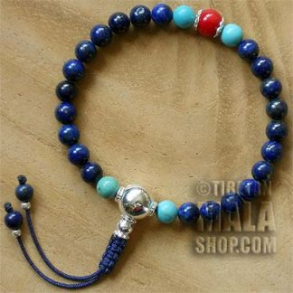 lapis lazuli wrist yoga beads