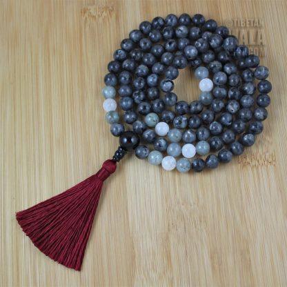 larvikite mala beads