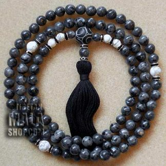 larvikite prayer mala beads