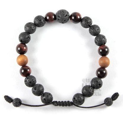lava rock beaded bracelet