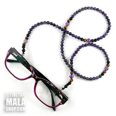 lepidolite glasses chain