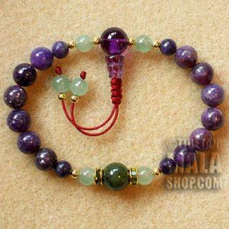 lepidolite mala bracelet