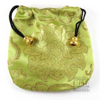light green lotus mala bag