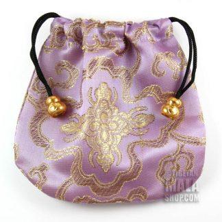 lilac lotus mala bag