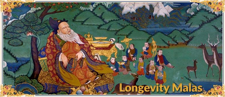 Hand Knotted Mala Beads ~ Longevity Malas ~ Buddhist Prayer