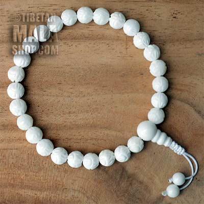 lotus flower wrist mala beads