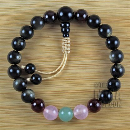 love and grounding wrist mala