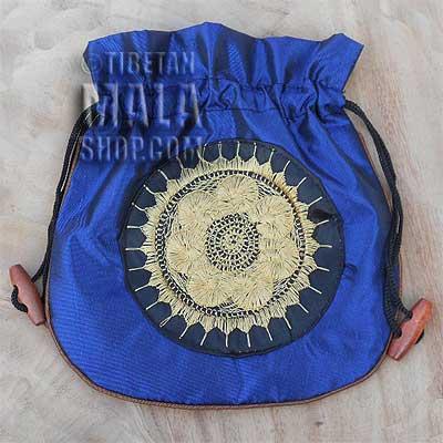 mala beads bag blue wheel