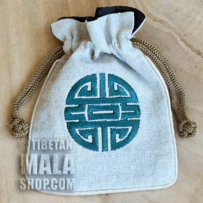 mala beads bag longevity symbol