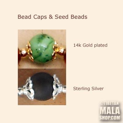 mala beads caps