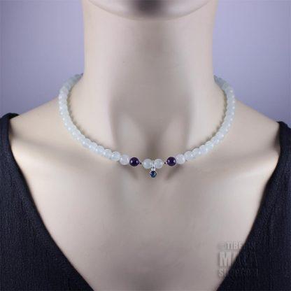 march birthstone choker necklace
