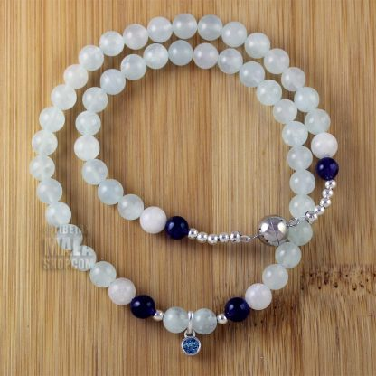 march birthstone wrap bracelets