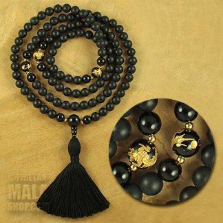 onyx buddhist mala
