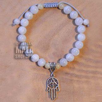 moonstone hamsa bracelet