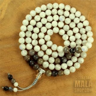 moonstone mala prayer beads