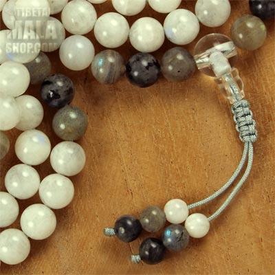 moonstone mala beads