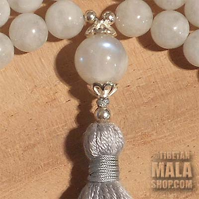 moonstone tassel mala beads