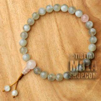 moonstone wrist mala beads