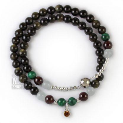 november birthstone wrap bracelet