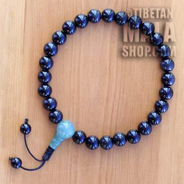 obsidian wrist mala beads