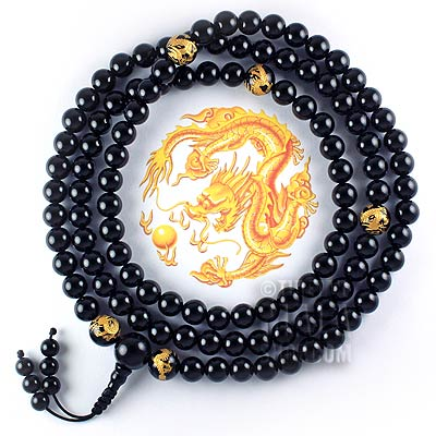 onyx gold dragon mala
