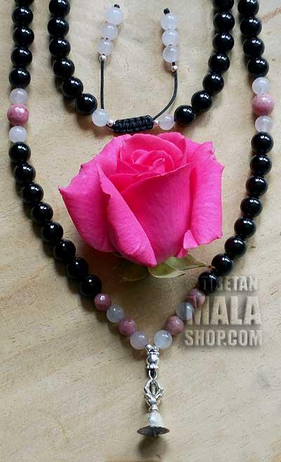 onyx yoga mala beads