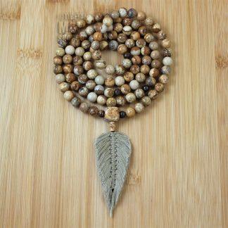 picture jasper feather mala