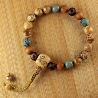 picture jasper wrist mala beads