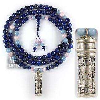 prayer box necklace lapis