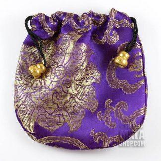 purple lotus mala bag