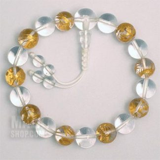 quartz dragon mala bracelet