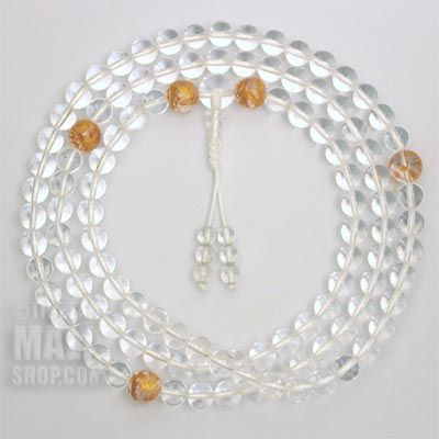 quartz dragon mala