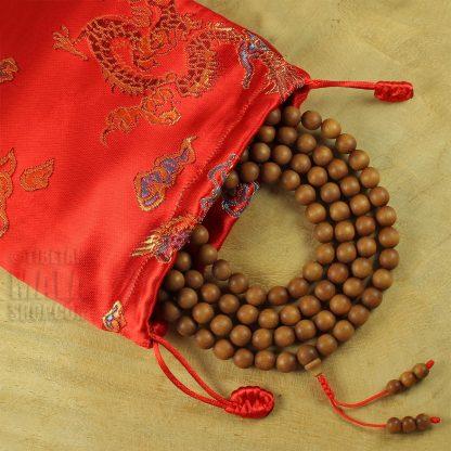 red dragon mala beads bag
