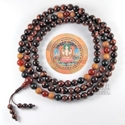 red tigers eye mala