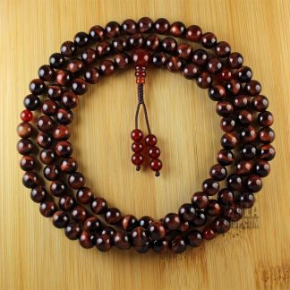 red tigers eye mala beads