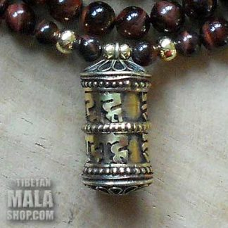 red tigers eye yoga beads