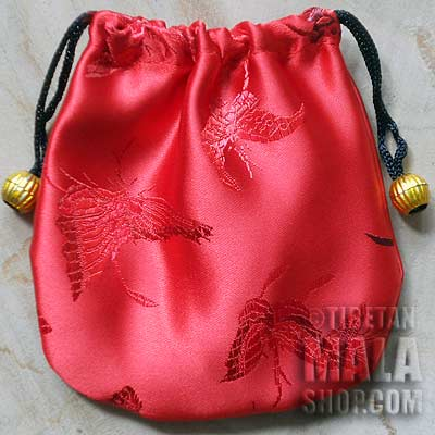 red butterfly mala bag
