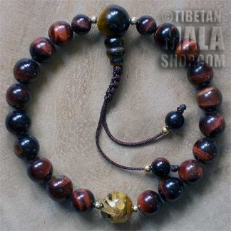red tigers eye wrist yoga beads