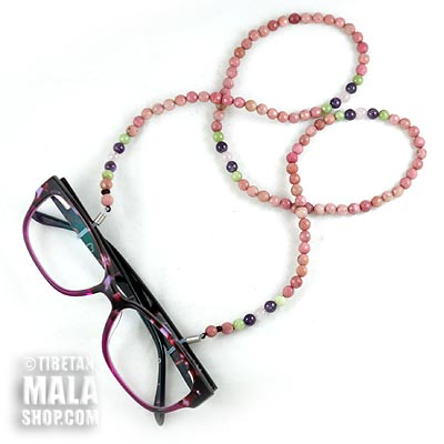 rhodonite glasses chain