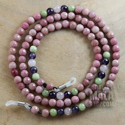 rhodonite glasses lanyard