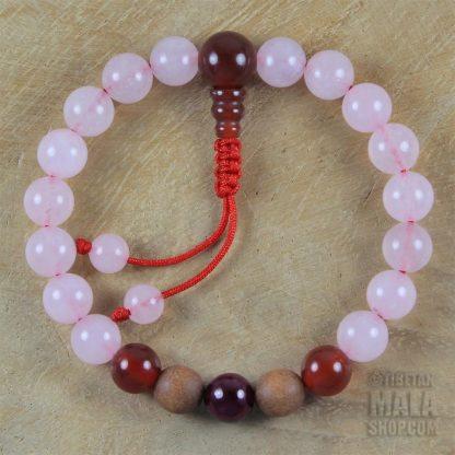 rose quartz mala bracelet