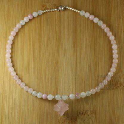 rose quartz merkaba choker