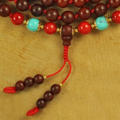 rosewood knotted mala