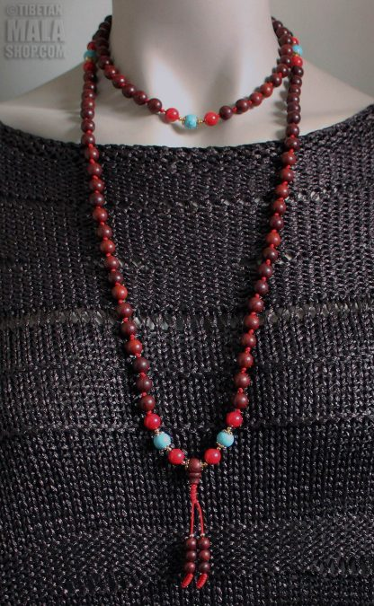 rosewood knotted mala length