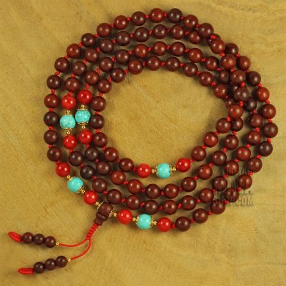 rosewood mala knotted
