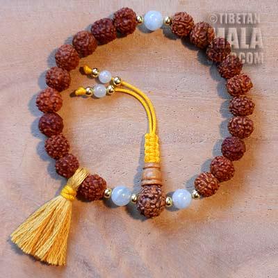 rudraksha buddhist wrist mala