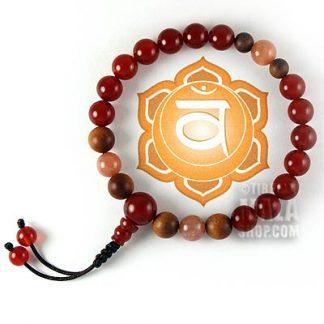 sacral chakra mala bracelet