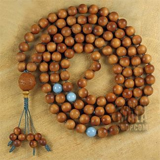 sandalwood knotted necklace mala