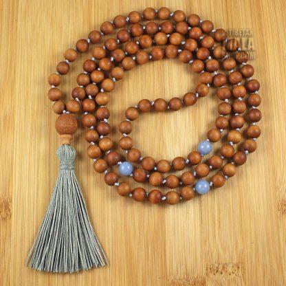 sandalwood knotted tassel necklace