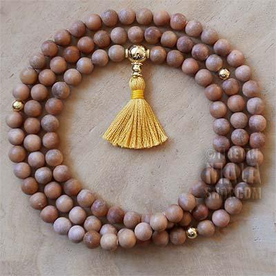 sandalwood prayer beads tassel